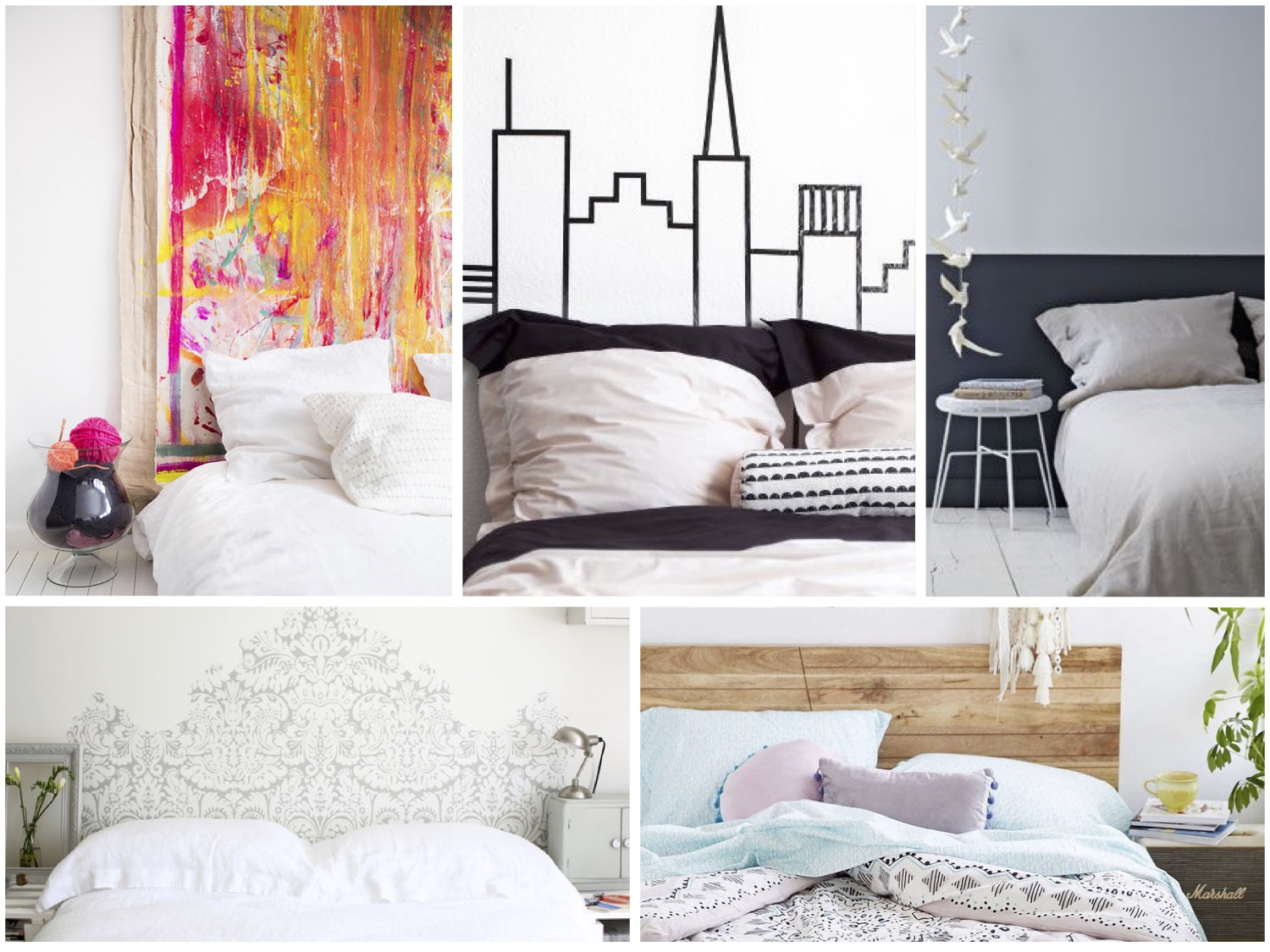 11 creative alternatives to the traditional headboard for Headboard alternatives