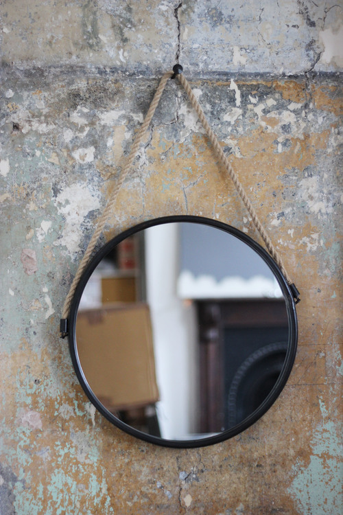 Black and Rope Circle Mirror, €48
