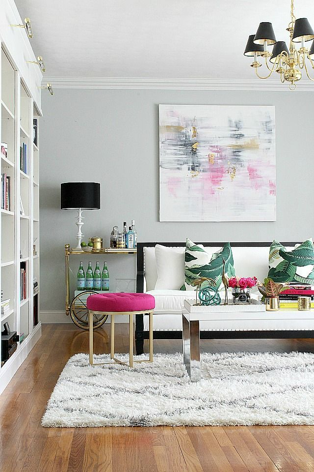 Art can be used to echo the colours in the surrounding space. (Image source: Camille Styles)