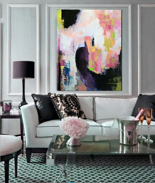 Art will enhance the mood of a room. Want a dark and dramatic scheme? Or maybe light and airy is more the mood you seek? Use your artwork to set the mood. (Image source: Issuu)