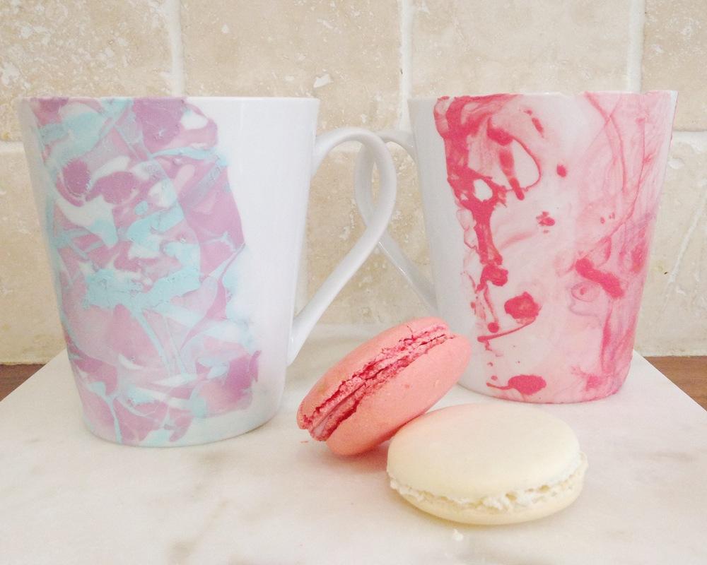 marble mugs diy