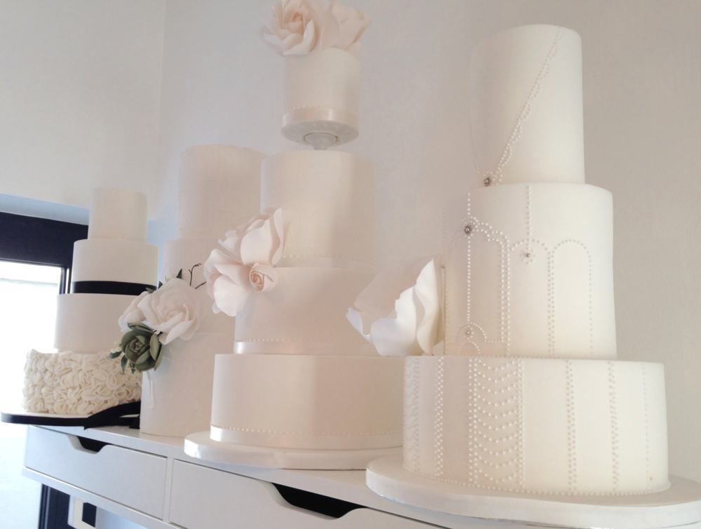 Some of the cakes in Suzanne's studio