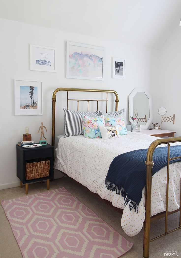Why not try to source a vintage headboard or bed like this one seen on Paper Daisy Design