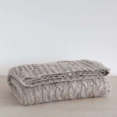 Cable Knit Fringed Blanket, €69.99 - Zara Home