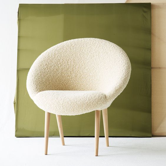 Cream Moon Chair