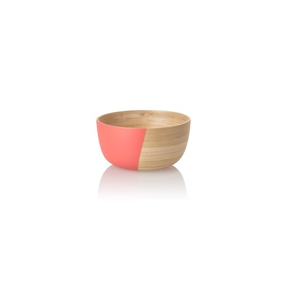 Small Coral Colour Pop Bamboo Bowl