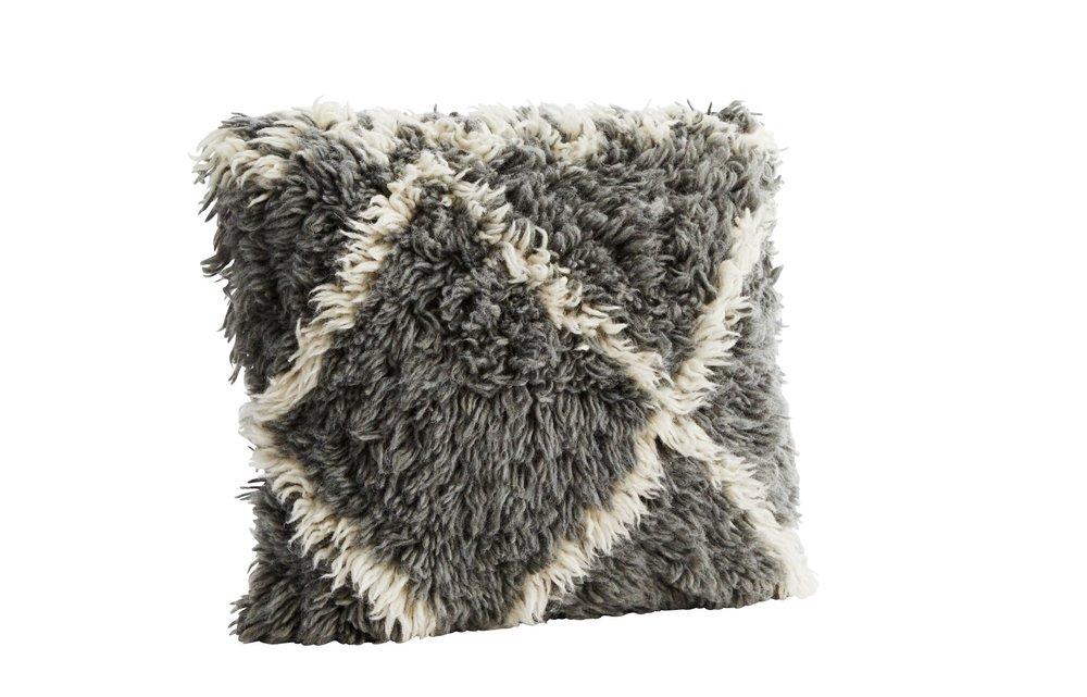 Grey & White Wool Cushion, €60