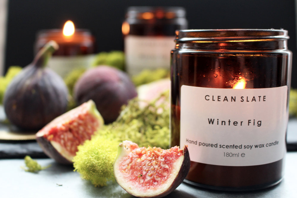 clean slate candle - winter fig