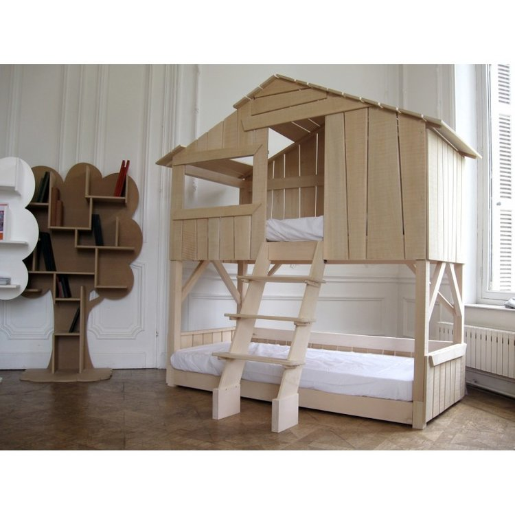 Natural Finish Treehouse Bunk Bed