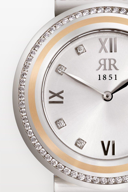 Einmalige Brillanz - Haben Sie eine solch brillante Uhr schon einmal gesehen? Diese strahlenden und optisch schwebenden Brillanten sehen Sie nur bei einer Rohrbacher, denn wir fassen unsere Diamanten nach einem streng gehüteten Familiengeheimnis – der Deep Diamonds Fasstechnik! Sie ist patentiert und macht unsere Brillantuhren unvergleichlich brillant.