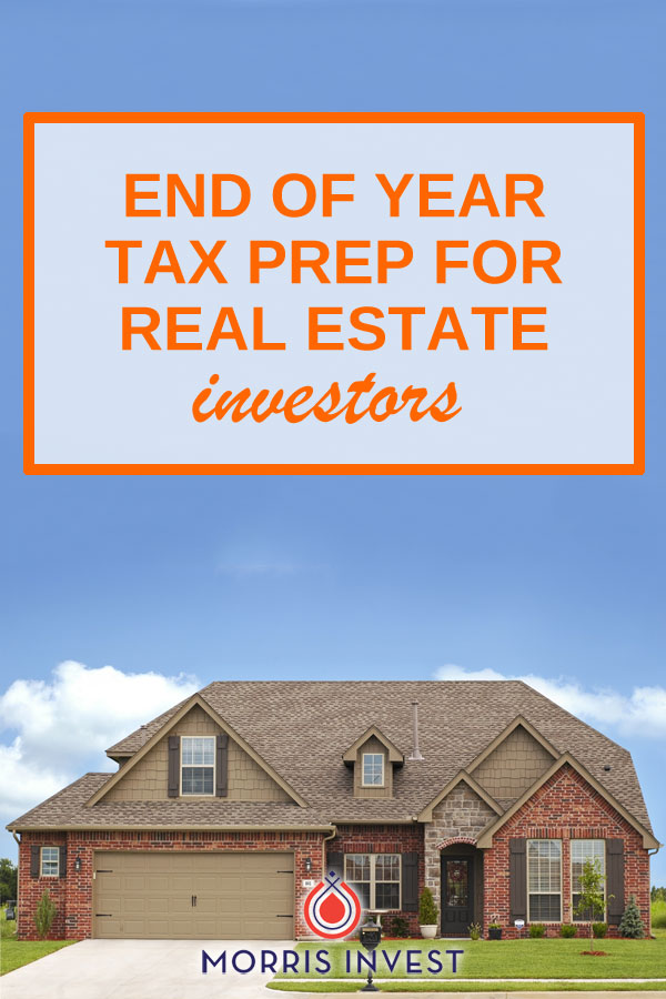 as real estate investors, it's an opportune time to take stock of your portfolio and start thinking ahead to tax season.