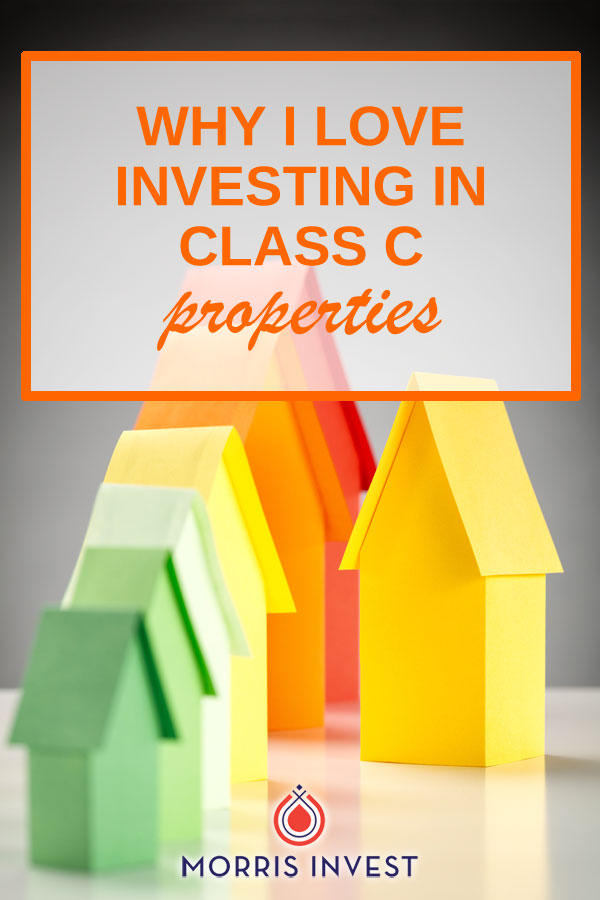 Here's why it pays to invest in Class C rental properties. It might seem counterintuitive, but A neighborhoods typically are more likely to have problem tenants. Those tenants have higher standards, and are more likely to complain about insignificant details. On the other hand, I've had nothing but great experiences with my Class C properties.