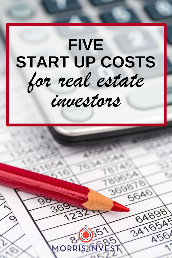 We've discussed the regular expenses you should account for as a real estate investor, but what should you expect when you're just getting started? There are a few start up costs you will incur when you begin investing in real estate.