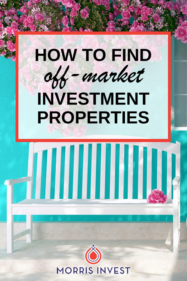 There are many ways you can find off-market houses! (An off-market property simply means the market doesn't know about it.) Here are a few...