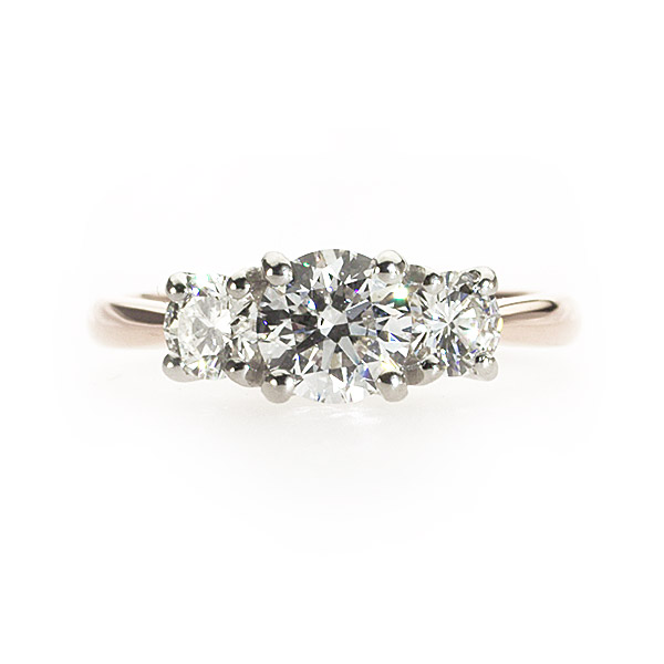 Edelweiss 3 Stone Ring