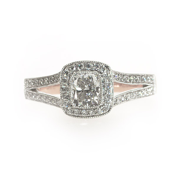 Celine Cushion Shape Vintage Solitaire Ring