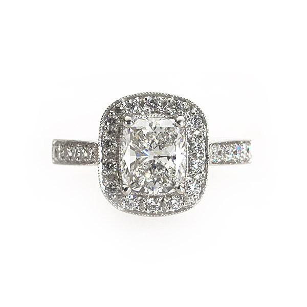 Maya Cushion Vintage Solitaire Ring