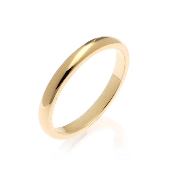Pluto Yellow Gold Women's Wedding Band