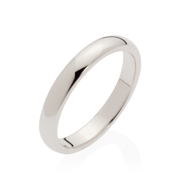 Pluto White Gold Women's Wedding Band