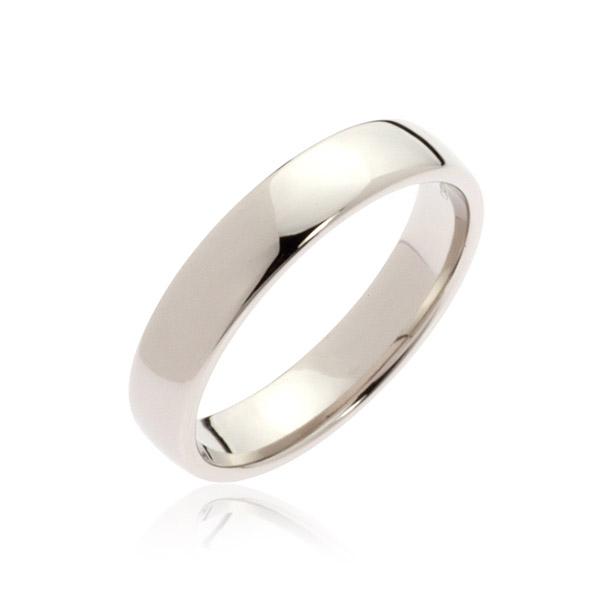 Neptune White Gold Men's Wedding Band Ring
