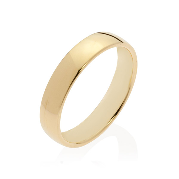 Neptune Yellow Gold Men's Wedding Band Ring