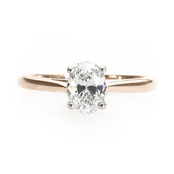 Peony Rose Gold Solitaire Ring