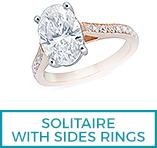 Diamond Solitaire rings with sides