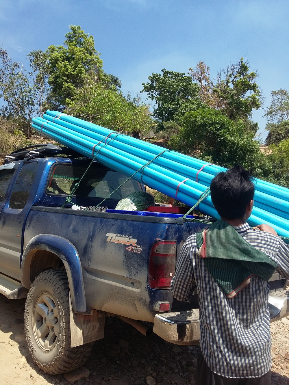 Transporting PVC Pipe