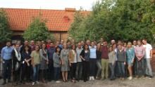 Group photo at Ängavallen, course 7, meeting 1, August 2014.