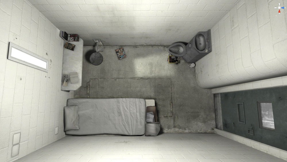6x9 - Fran Panetta, Lindsay Poulton, Carl AddyUK / 2016 / 9'00VR created in Unreal EngineA virtual experience of solitary confinement