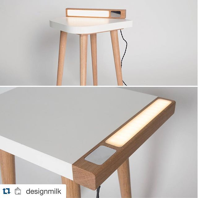 #Repost @designmilk with @repostapp. @formicagroupeu @designeventne @northumbriauni ----- Lux Bedside Table is a #design from recent grad / designer @jakebarkerdesign. The piece serves dual functions – it's both a bedside #table and a #lamp in one.  Twitter: jbarkerdesign  www.jakebarkerdesign.com