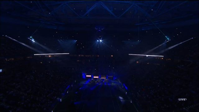 Last night at the #USOpen Opening Ceremony, as seen on ESPN 2.