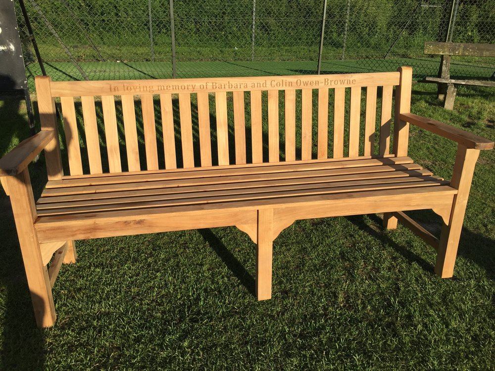 Memorial bench from the Owen Brownes to Headley