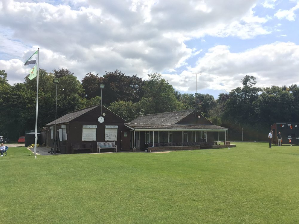 """The old TCC pavilion, """"they've got a flag so they must be a rpoper club"""" was overhead upon Cuddy's tidy looking erection."""