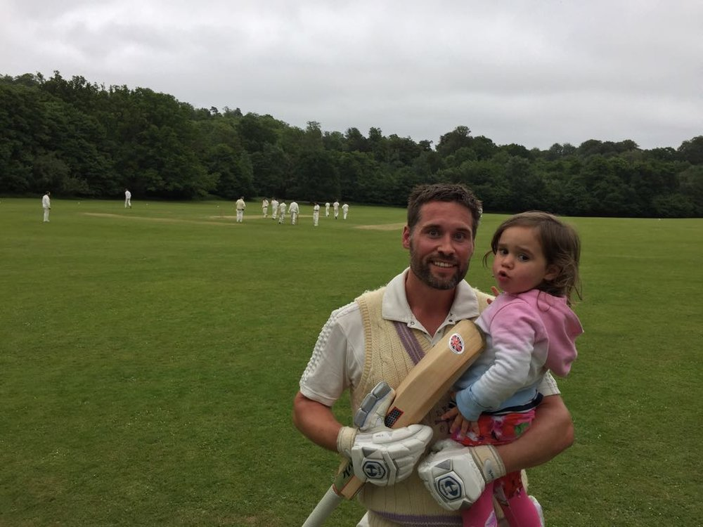 Connie congratulates Daddy who politely fell on his sword after scoring 50