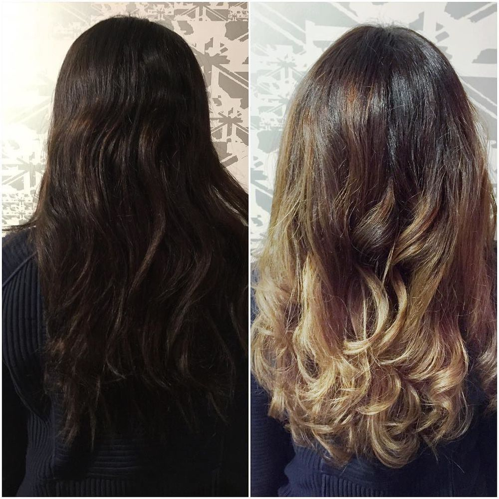 Before and after by one of our young guns #hair by @britbudhi in our #Glebe store using #matrix and #olaplex #teamenglish #stevieenglishhair