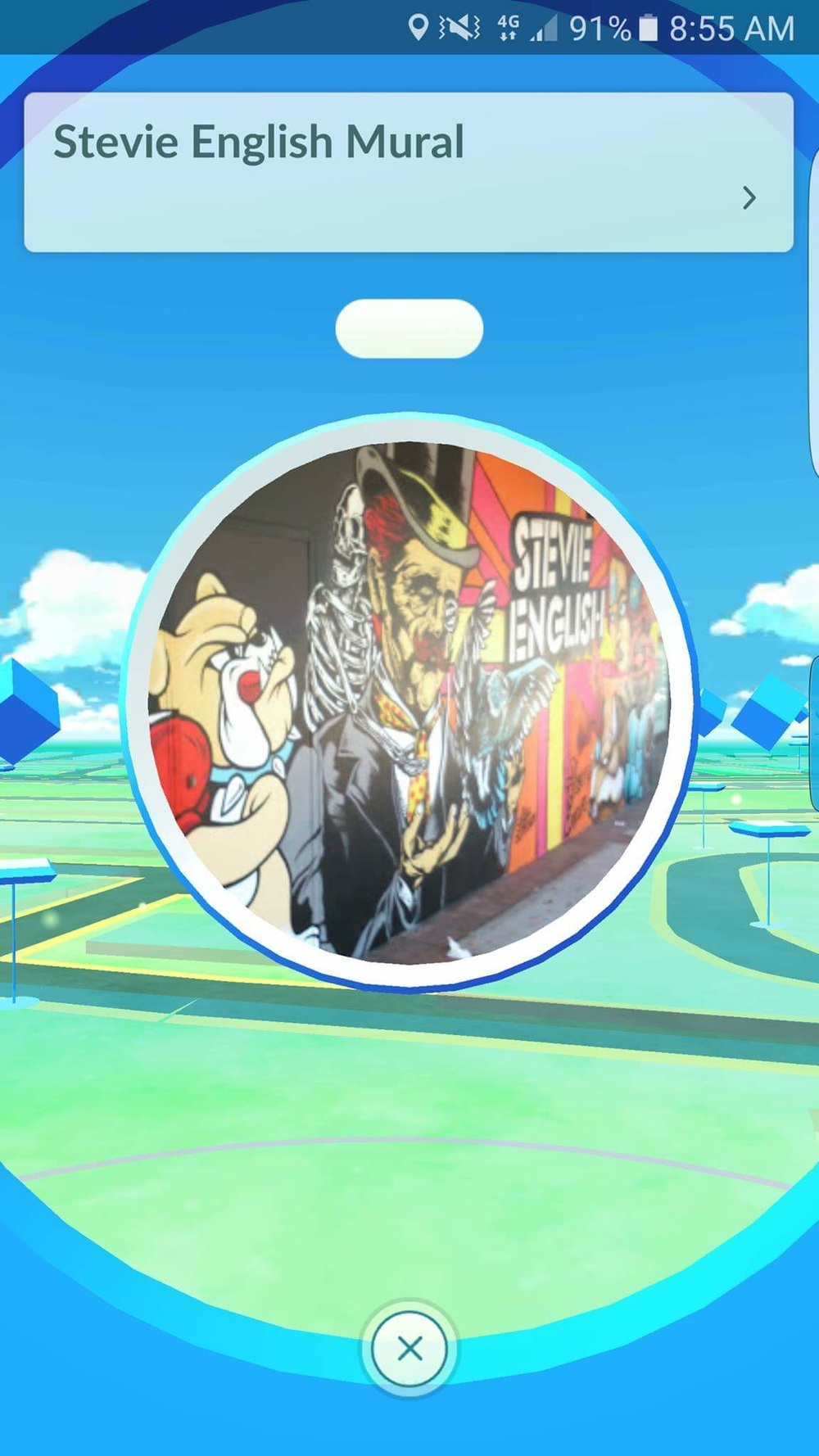 Our mural is a pokestop