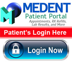 Click LOGIN above to access the MEDENT Patient Portal