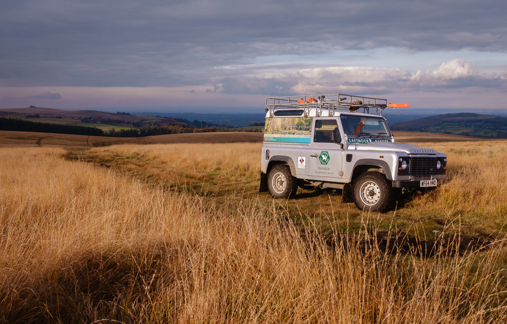 High up on the moor.  No problems for the Defender.