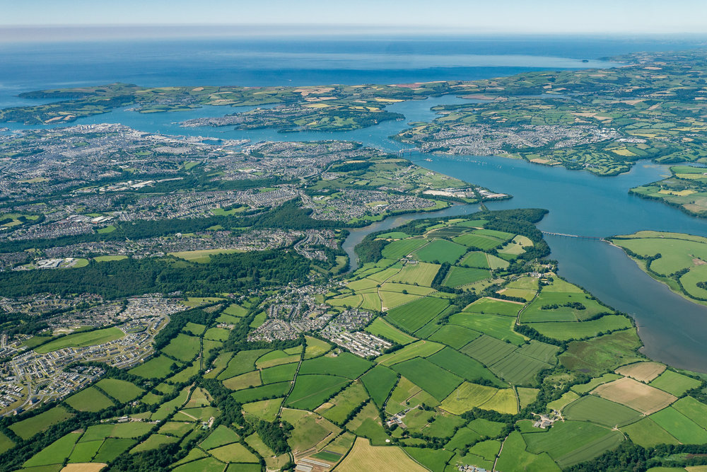Plymouth from 3000 ft.
