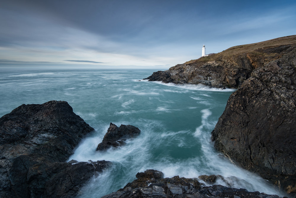 Trevose Head - Nikon D750, Nikkor 16-35 f/4 at 19 mm, f/11, 8 seconds, ISO 100, Lee Filters Little Stopper, ND Grad.