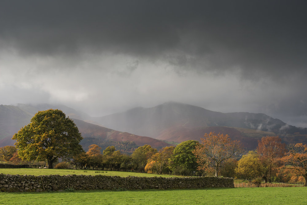 Autumn Storm at Castlerigg - Nikon D750, Nikkor 70-200 f/2.8 VR at 78 mm, f/9, 1/60 seconds, ISO 100, Lee Filters Polariser and ND Grad.