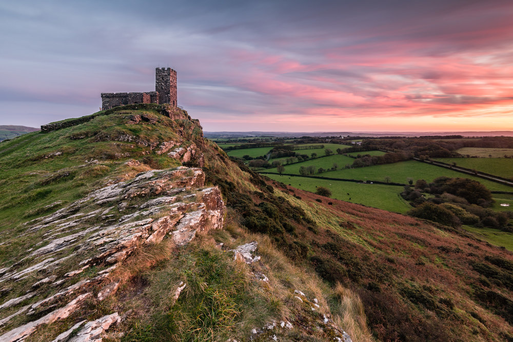 20171006-Fading Sunset at Brentor Church #2.jpg