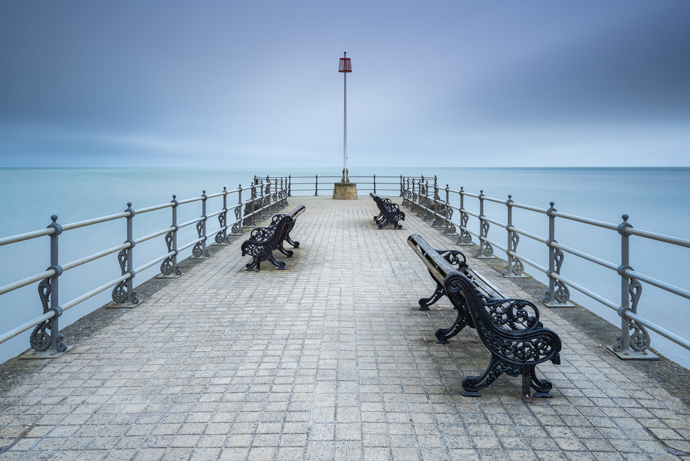 Banjo Pier, Swanage.  Nikon D750, Nikkor 16-35mm f/4 at 28mm, f/11, 30 secs, ISO 100, Lee Filters Big Stopper.