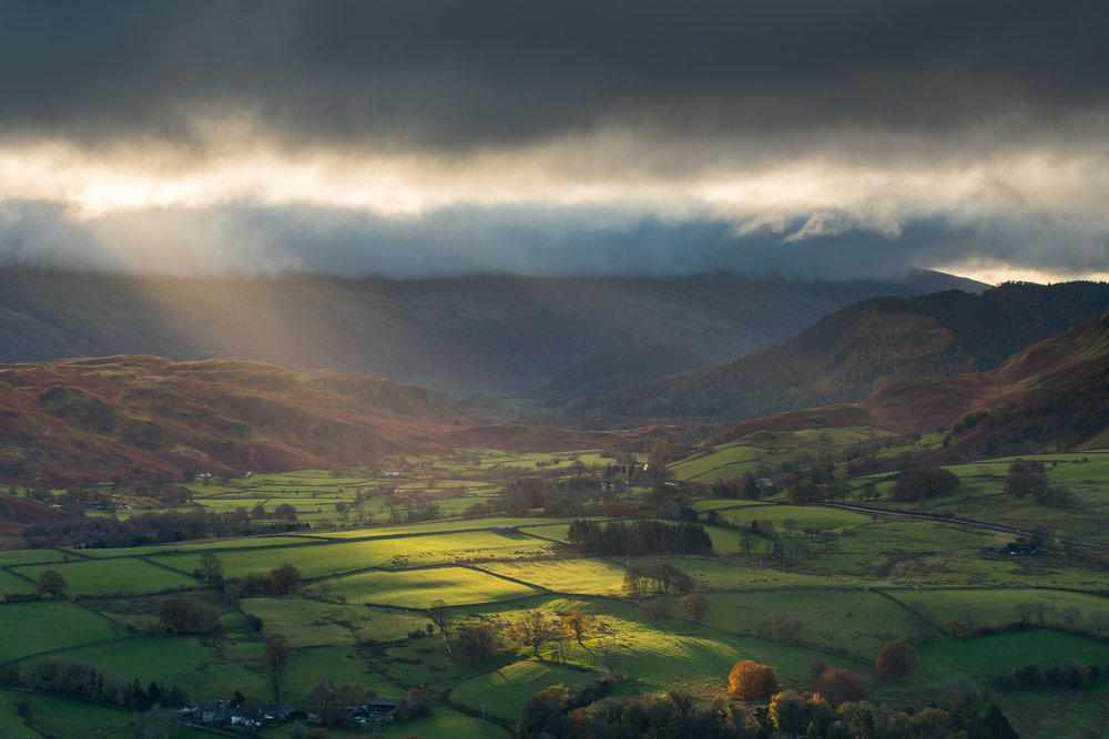 Crepuscular Rays on the Fells