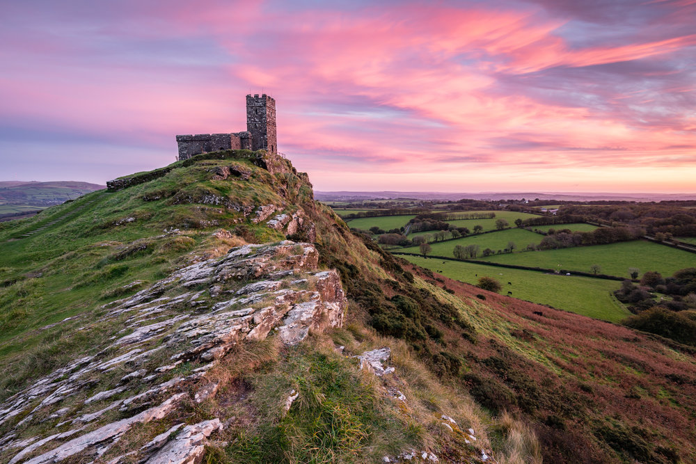 A Sunset to Remember at Brentor Church