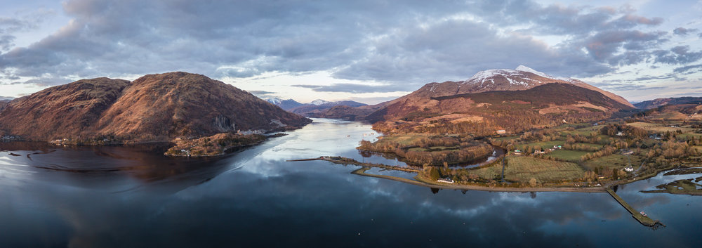Loch Etive Panorama  - Taynuilt, Argyll:  DJI Mavic Pro, 1/125th sec at f/2.2, ISO 100, 26mm (35mm equiv'), stitched from 9 DNG files