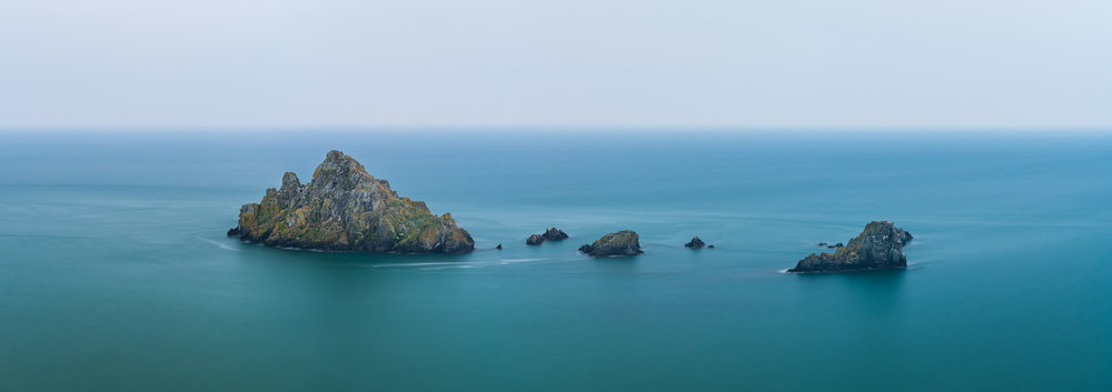 On an Island  - Froward Point, Devon: Nikon D850, Nikkor 24-70 mm f/2.8 at 58 mm, 105 secs at f/6.3, ISO 64, Lee Filters Circular Polariser. 5 Image stitch.