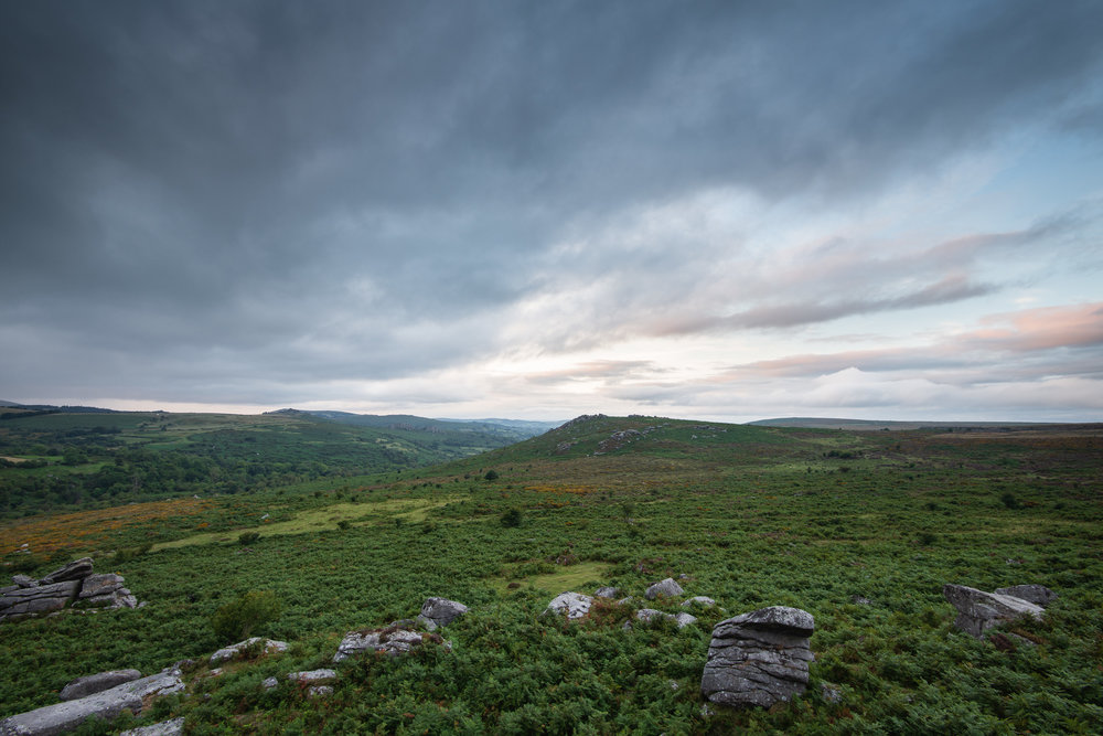 Approaching Storm on Dartmoor, Devon  - Nikon D850, Nikkor 16-35 mm f/4 at 16 mm, 0.5 seconds at ISO 64, f/11, Lee Filters ND Grad.