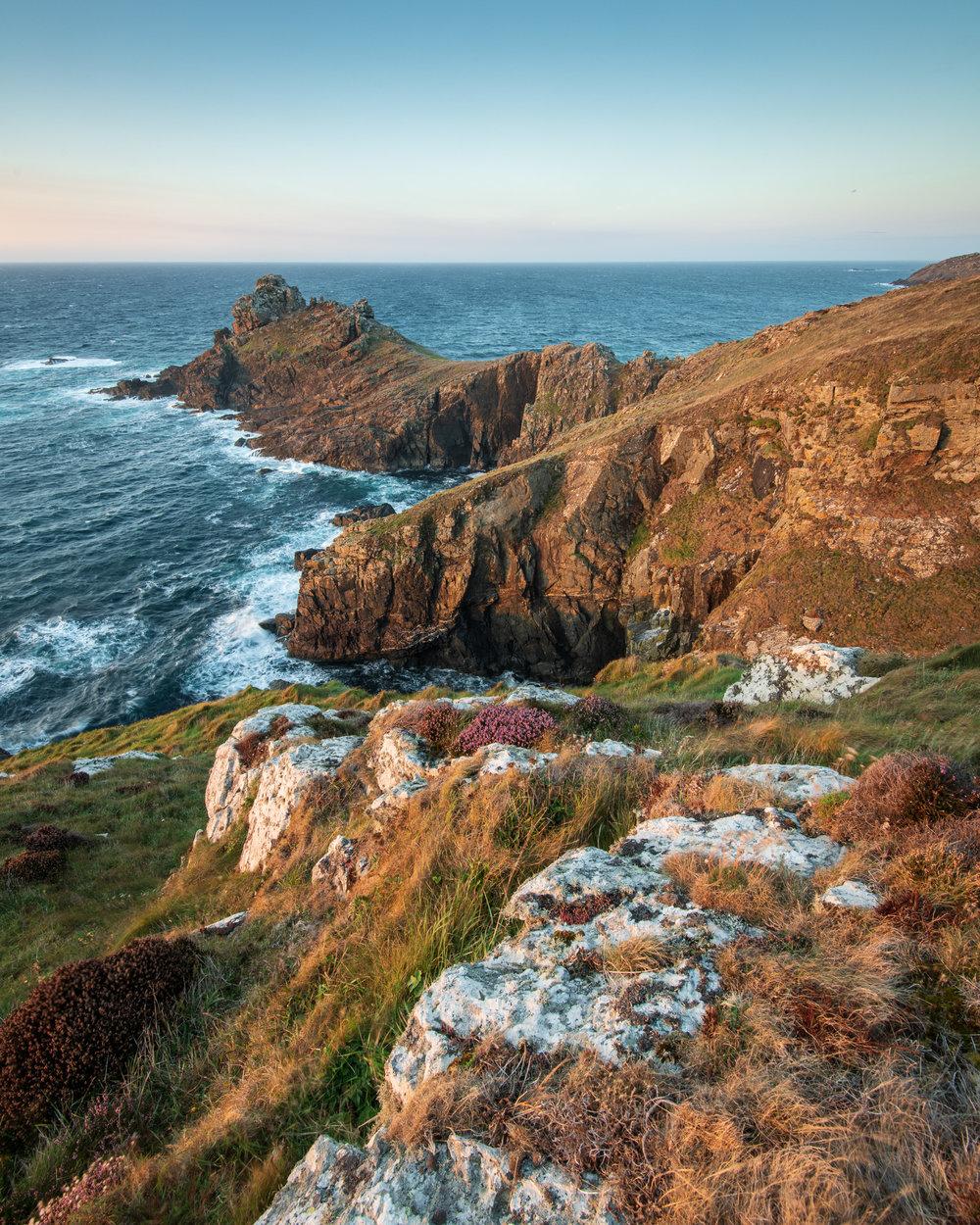 Gurnard's Head Sunset #2, Cornwall  - Nikon D850, Nikkor 16-35 mm f/4 at 16 mm, 0.4 secs at ISO 64, f/13, Lee Filters ND Grad.
